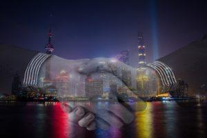 Handshake zur Symbolik der Zusammenarbeit