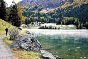 Davoser See mit Sicht auf Wolfgang