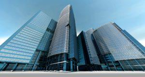 Grossunternehmen und Wolkenkratzer