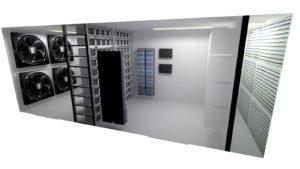 Mining Container Innenraum