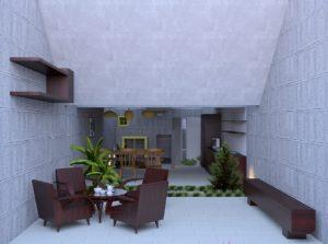 3D Modellierung Wohnzimmer