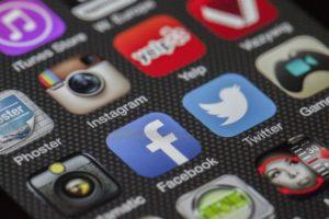 Social Media Icons auf Handy