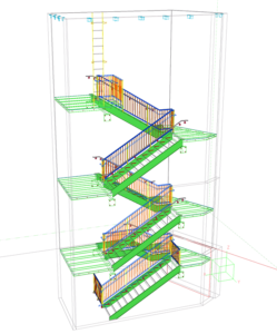 3D Modellierung Treppenhaus