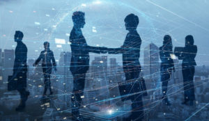 Big Data, People shaking Hands
