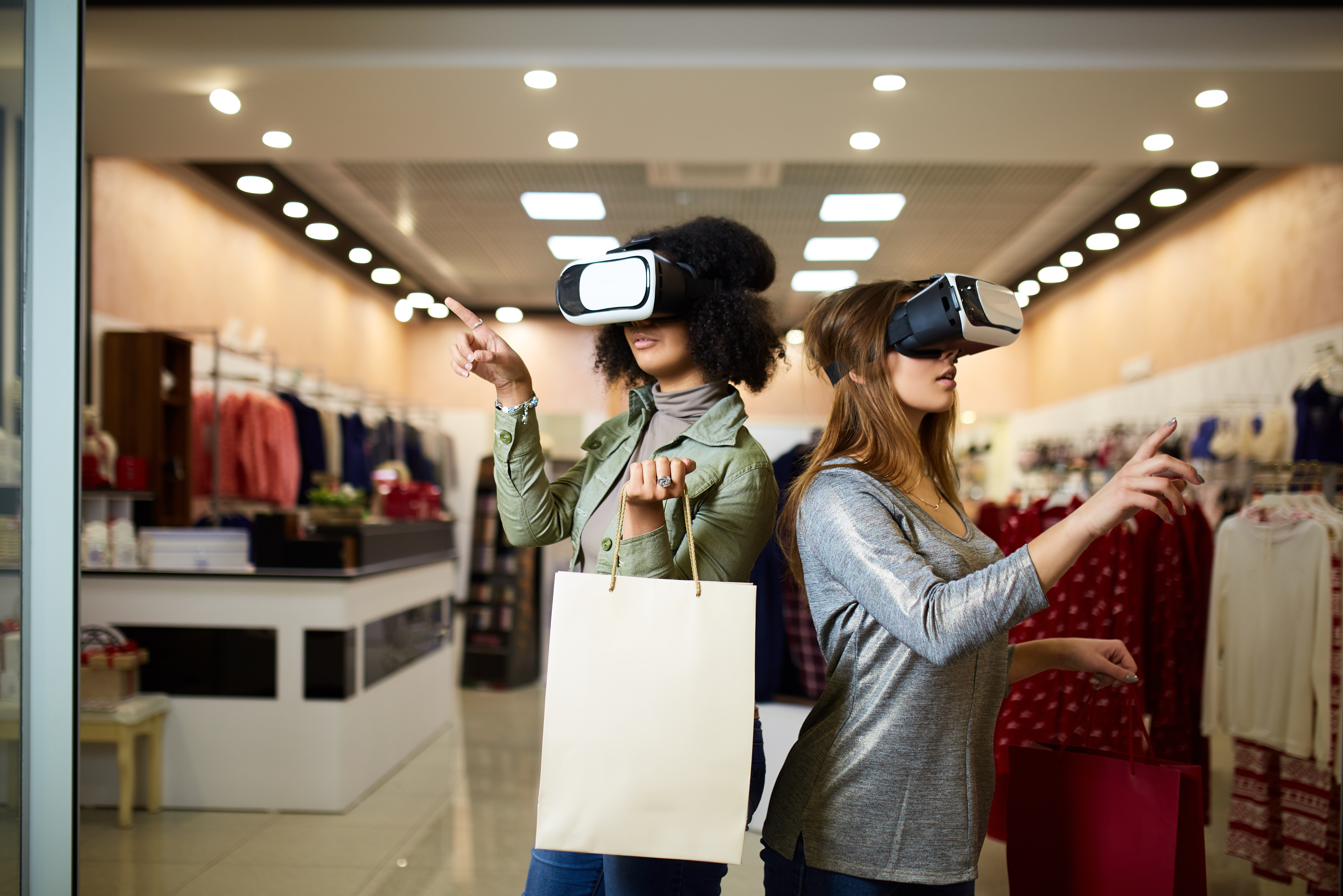 Shopping mit VR Brillen
