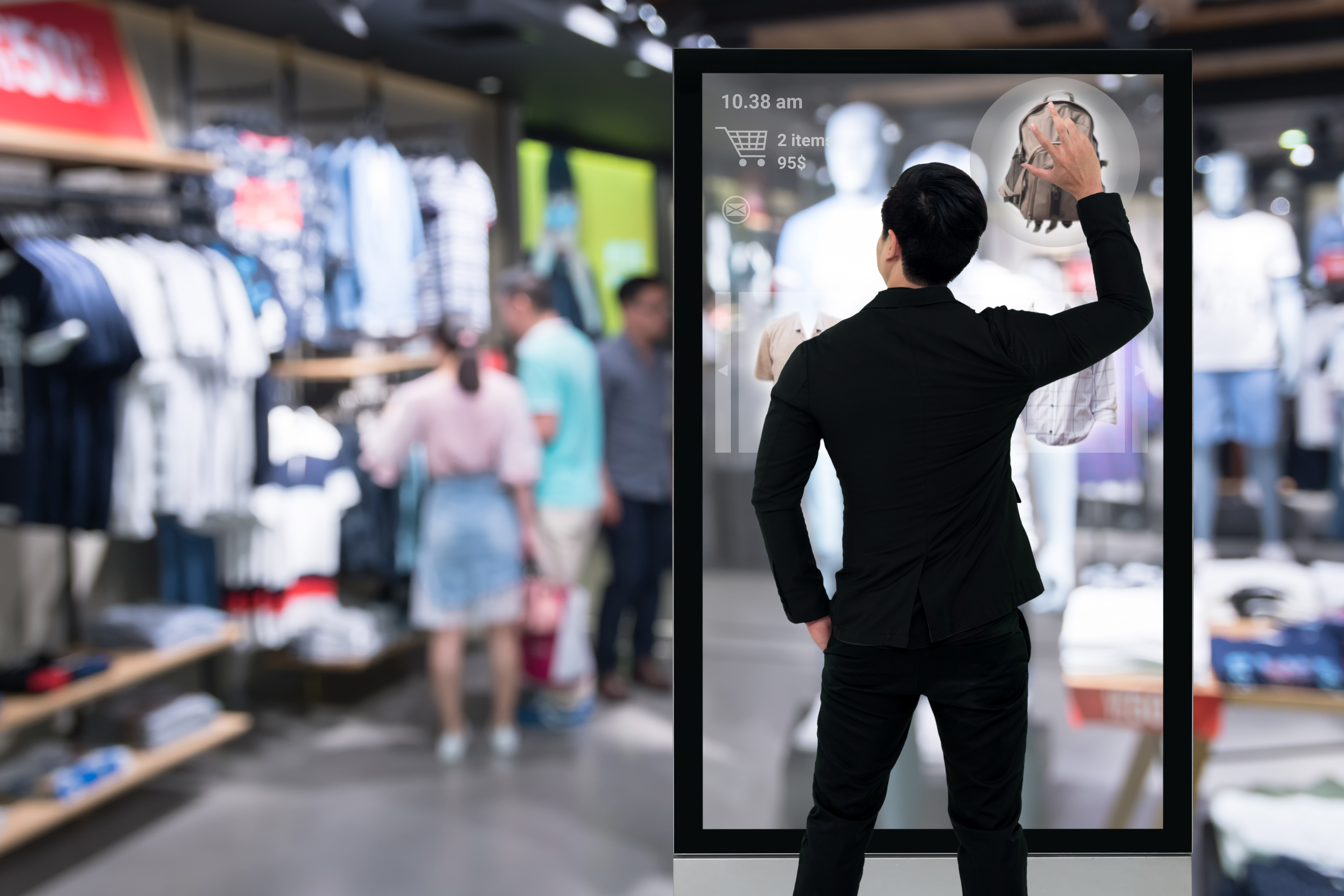 Augmented Reality Shopping Monitor