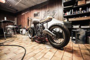 Motorbike with big tyres