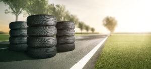 Reifen auf Landstrasse