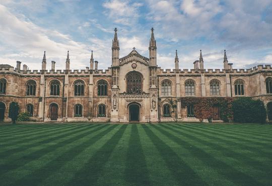 Universität mit Rasen