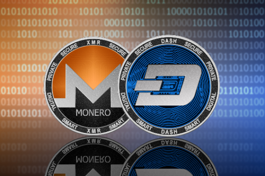 Privacy Coins analysed using Monero and Dash